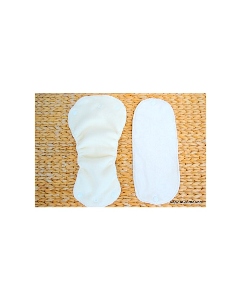 Hemp organic cotton inserts set with snaps