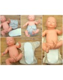 Three-layer hemp organic cotton insert to cloth diapers