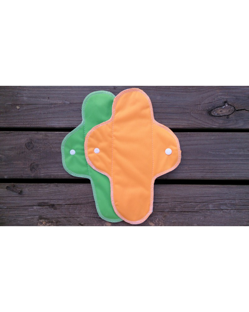 Hemp-organic cotton cloth menstrual pads with PUL