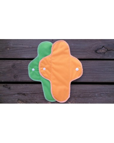 Hemp-organic cotton cloth menstrual pads with PUL