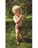 Merino wool diaper cover XL size brown color