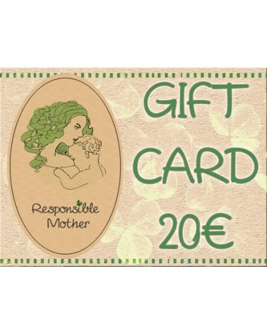 Gift card amount 20 EUR, responsiblemother gift certificate