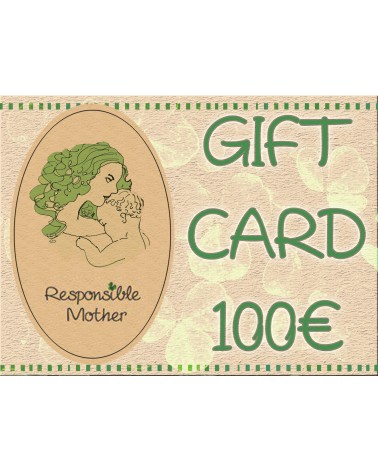 Gift card amount 100 EUR, responsiblemother gift certificate