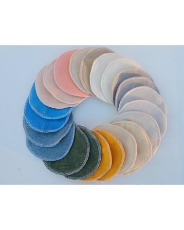 Merino wool sandy color nursing, breastfeeding pads