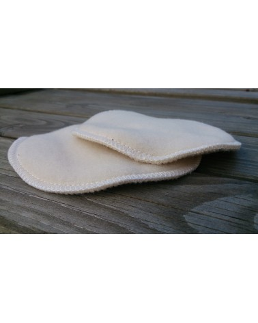 Merino wool sandy color nursing, breastfeeding pads, 1 pair