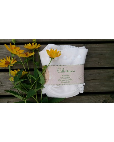 Bamboo fleece soft cloth pocket diaper